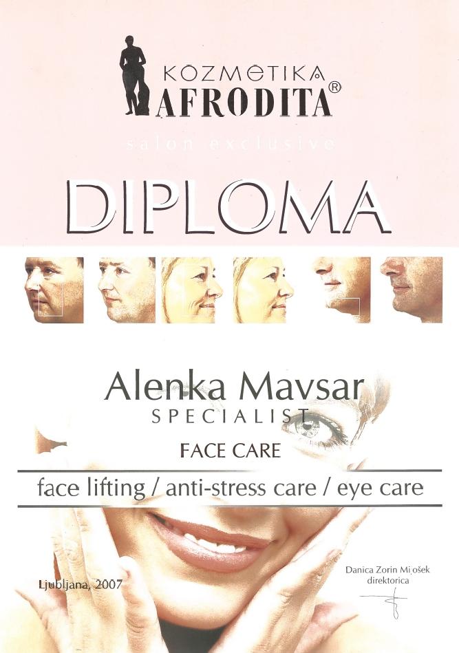 Diploma Afrodita